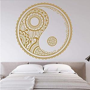 oppsq Mandala Taoism Wall Sticker Living Room Decoration Bedroom Modern Beauty Poster Mural Decals Decor 57X57Cm