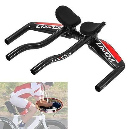 303025e4dc3 Image Unavailable. Image not available for. Color: Lixada Bicycle TT  Handlebar Aero Bars Cycling Bike Armrest Handlebars ...