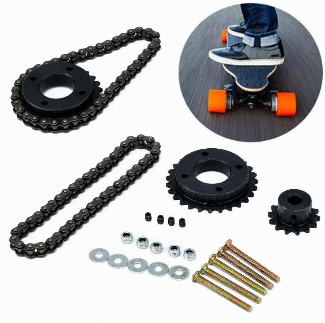 14:27 Motor Sprocket Chain Wheel Set for DIY 8044 Electric Longboard Skateboard