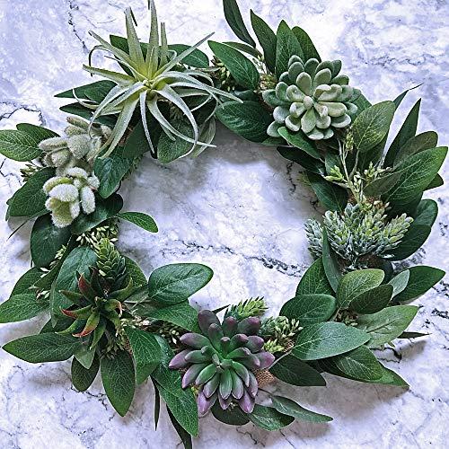 Bulk Christmas Garland.Supla 6 Pcs Faux Seeded Eucalyptus Leaves Spray Fake Artificial Eucalyptus Stems Bulk In Green 25 Tall For Eucalyptus Wreaths Garland Bouquet Floral