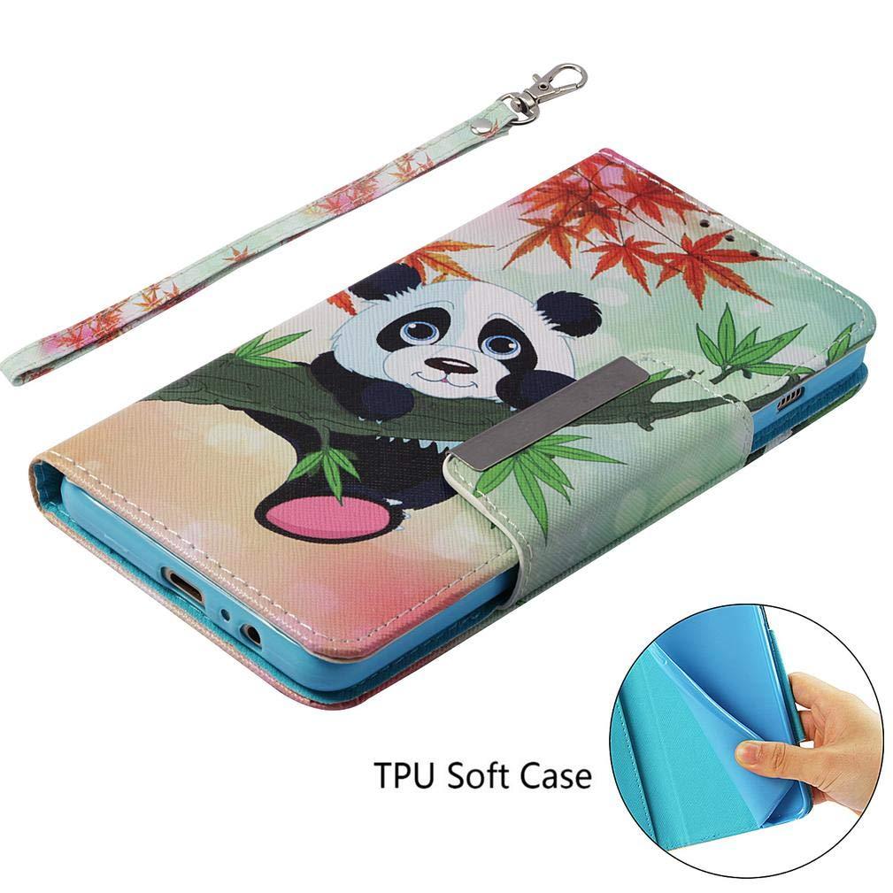 Amazon.com: Firefish Galaxy A8 Plus 2018 Case,[Kickstand] 3D Printing PU Leather Wallet Case Slim Anti-Scratch Inner TPU Bumper Credit Card Holder Wrist ...