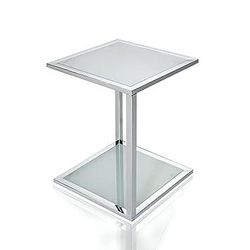 Beistelltisch Glas Chrom