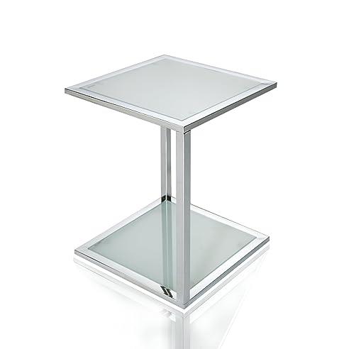 Elegant Invicta Interior Cubetto Funktionaler Beistelltisch Frosted Glas Chrom 40 Cm Good Ideas