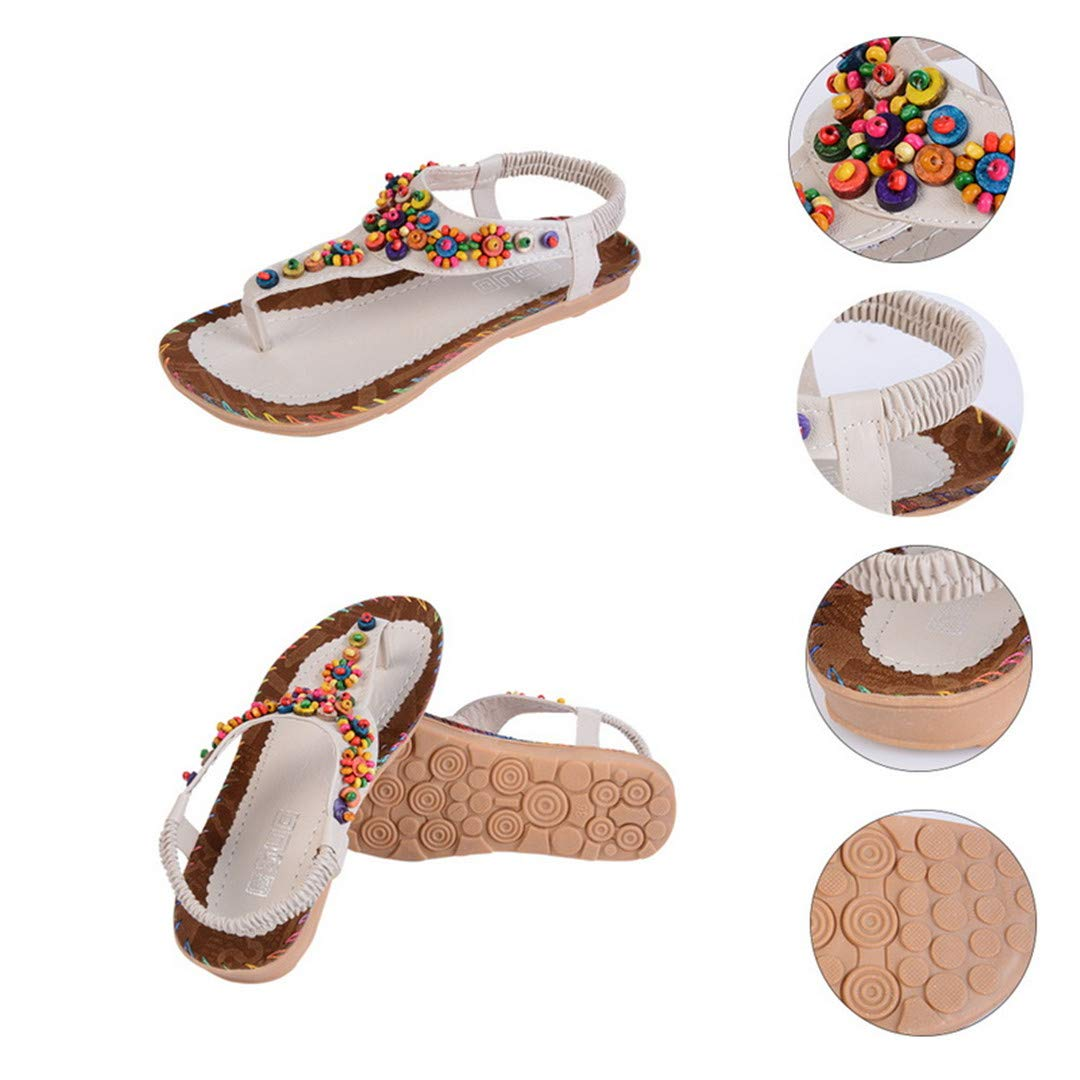 Summer Sandals Women T-Strap Flip Flops Thong Sandals Elastic Band Lady Gladiator Sandal Shoes Zapatos Mujer