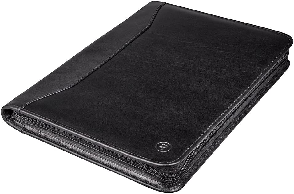 Dimaro Brown Maxwell Scott Personalized Mens A4 Leather Conference Folder