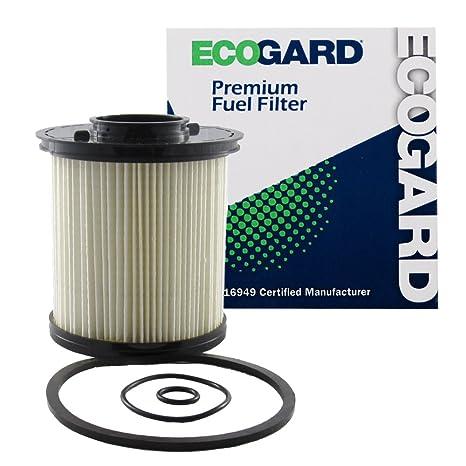 amazon com: ecogard xf59201 diesel fuel filter - premium replacement fits dodge  ram 2500, ram 3500: automotive