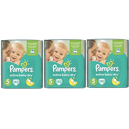 Pamper Active Baby Dry Junior Talla 5 11 – 18 kg – Pack (3 x