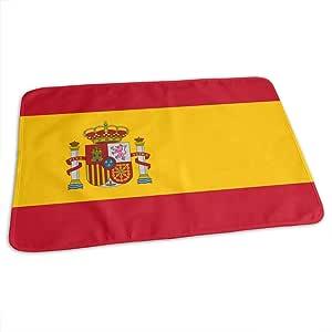 Cambiador de pañales, impermeable, portátil, con diseño de bandera de España, para cambiar el colchón de pañales para niños y niñas recién nacidos (27.5 pulgadas x 19.7