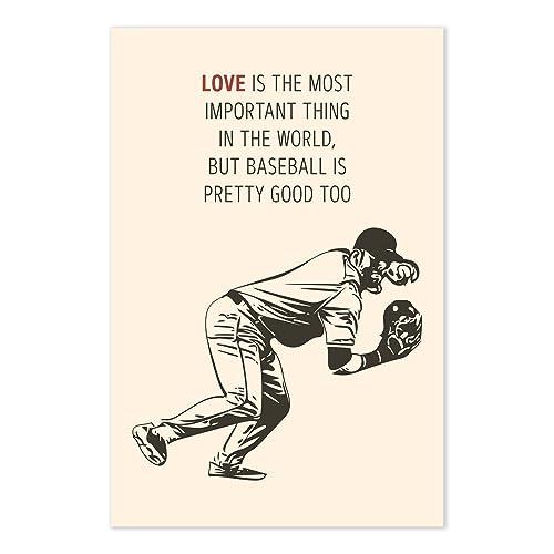 Amazon Yogi Berra Funny Baseball Quote Poster Handmade Enchanting Baseball Quote
