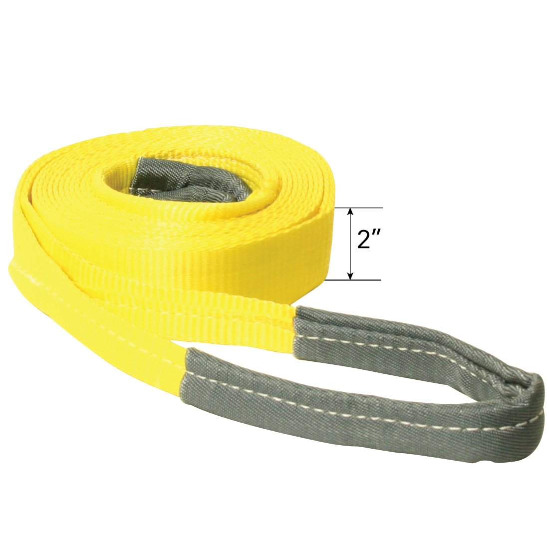 Vulcan Medium Duty Tow Strap With Reinforced Eyes (2'' x 20' Tow Strap - Towing Capacity Is 5,000 lbs.)