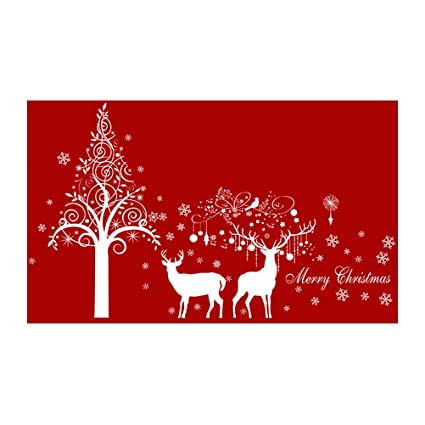 Cool Amazon Com Vorcool White Christmas Tree Snowflakes Elk Download Free Architecture Designs Scobabritishbridgeorg