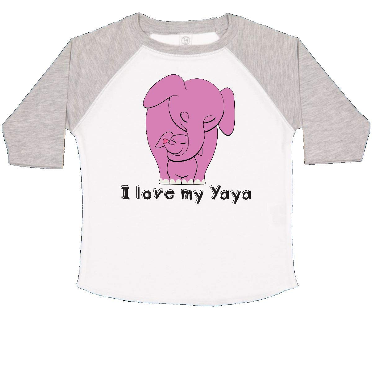 inktastic I Love My Yaya Elephant Pink Toddler T-Shirt