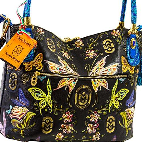 Marino Orlandi Designer Italien Hand-made Fairies cuir sac à main grande taille