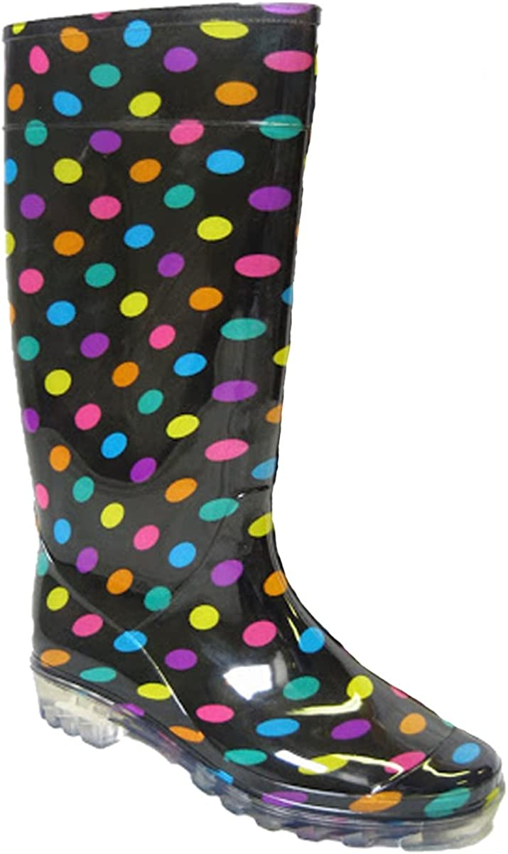 7 8 5 6 SUGAR ISLAND/®Ladies Womens Wellies Snow Rain Festival Wellington Boots Size UK 4