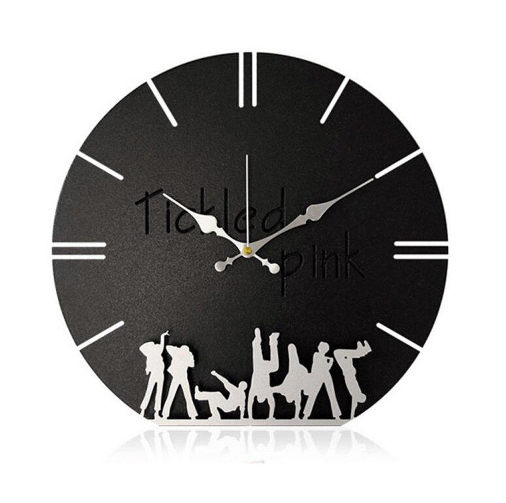 TXXM® 超静かな壁時計居間近代的なミニマム寝室時計の時計クリエイティブクロック (色 : B) B07F74S2PW B B