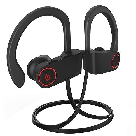 ANKOVO Auriculares inalámbricos Bluetooth Auriculares Sweatproof Correr Gimnasio Ejercicio auriculares estéreo cancelación de ruido auriculares inalámbrico