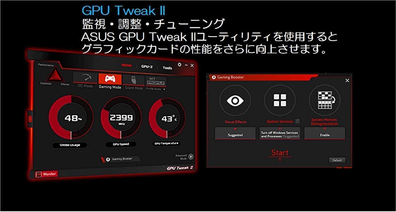 Asus TUF Gaming GeForce GTX 1660Ti Overclocked 6GB Dual-Fan Edition HDMI DP DVI Gaming Graphics Card TUF-GTX1660TI-O6G-Gaming