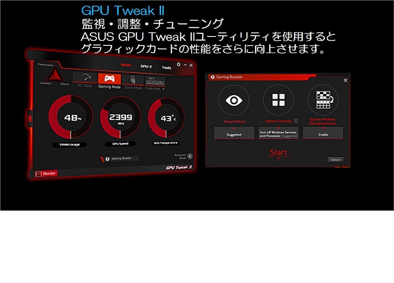 TUF-GTX1660TI-O6G-Gaming ASUS TUF Gaming GeForce GTX 1660Ti Overclocked 6GB Dual-Fan Edition HDMI DP DVI Gaming Graphics Card