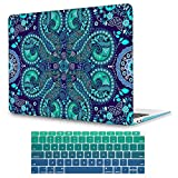 May Chen Ornamental Paisley Flowers New Image Fashion Clear Hard Shell Laptop case for Apple MacBook Pro 13 inch (Model:A1278) with Keyboard Cover - Paisley