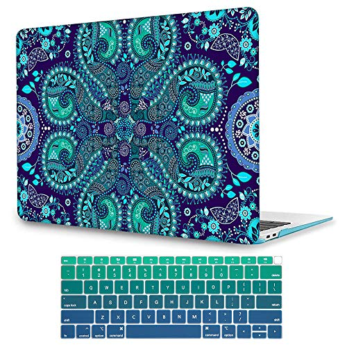 May Chen Ornamental Paisley Flowers New Image Fashion Clear Hard Shell Laptop case For Apple Macbook Air 13 inch (Model:A1369/A1466) with Keyboard cover - Paisley