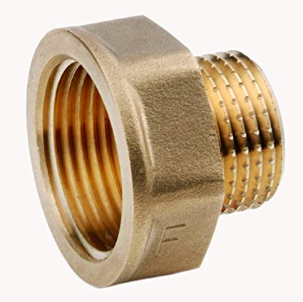 """PAIR OF IRON PIPE REDUCING BUSHES 3//4/"""" M TO 1//2/"""" F BSP GAS ADAPTOR FITTINGS"""