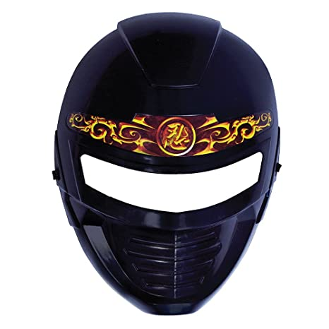 Amazon.com: Black Adults Ninja Mask With Gold Detail: Home ...