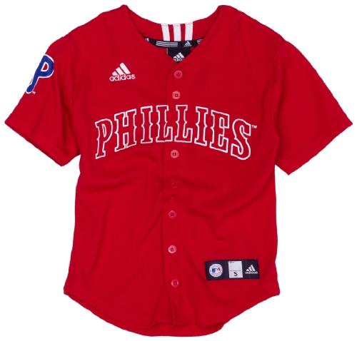 MLB Boys' Philadelphia Phillies Screen Print Baseball Jersey, Red, Large ()