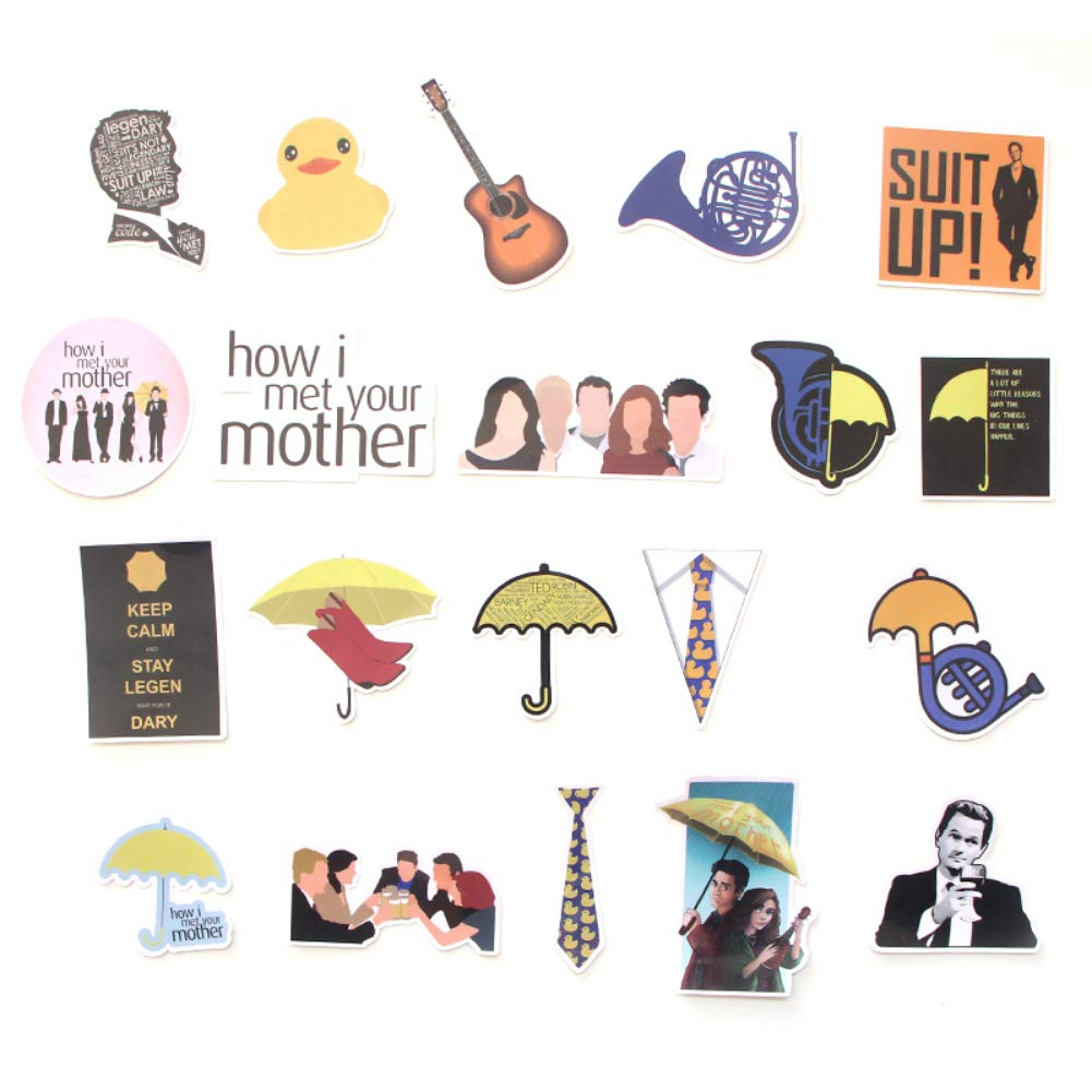 TV Show How I Met Your Mother Themed 20 Piece Sticker Decal Set for Kids Adults - Laptop Motorcycle Skateboard Decals