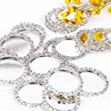 Diamond Cameos Rhinestone Caps For Hair Bows Making DIY Pendants or Craft Scrapbooks(Pack of 25) (White Rhinestone)