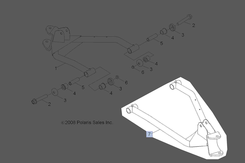 Polaris 2009 2018 Rzr 170 R05 Weld Control Arm 2014 Wiring Diagram Frt Rh Blk 0454271 067 New Oem Automotive