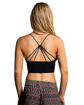 bcd1be3b70 Onzie Seamless Strappy Yoga Sports Bra 334 Black (Black