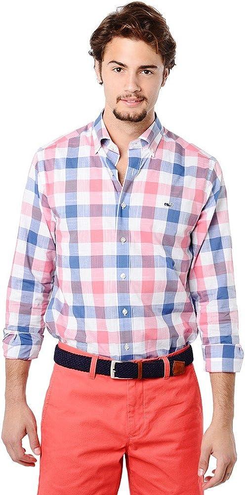 Vineyard Vines - Camisa a cuadros, corte ajustado, de estilo náutico, con logotipo de ballena, para hombre - Azul - X-Small: Amazon.es: Ropa y accesorios