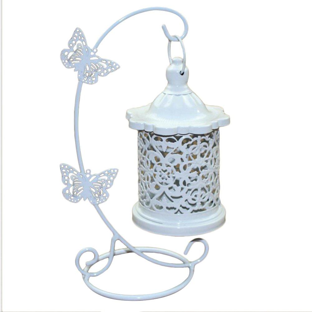 Doitsa Kerzenhalter Laterne aus Eisen Hohle Kerzenständer mit Ständer Haken Romantische Hochzeit dekoration Zuhause Deko Kreative Kerzenleuchter