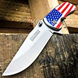 "8"" UNITED STATES American Flag Army SPRING ASSISTED OPEN Folding Pocket Knife"