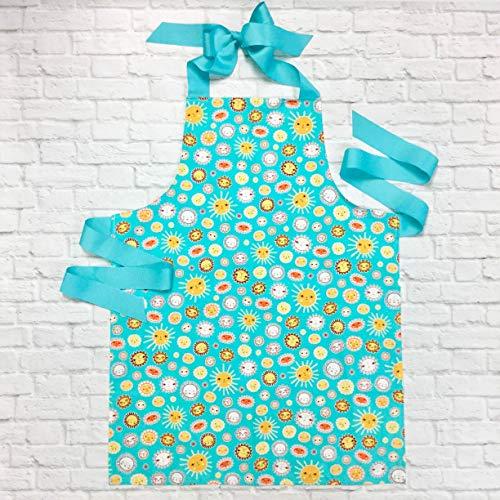Handmade Sunshine Tween Girl Apron Gift for Crafts Baking or Art from Sara Sews, Inc.