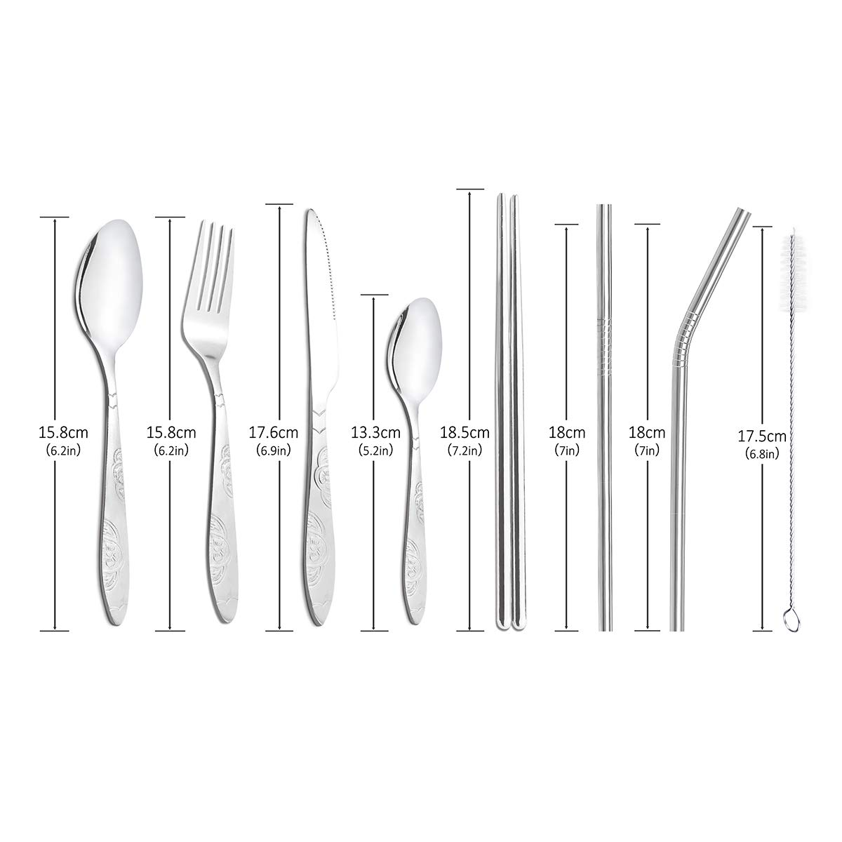 Ackmond Camping Outdoor Utensils Cutlery Flatware Set Of