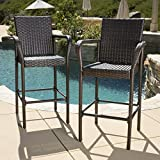 Cheap Christopher Knight Home 295946 Stewart Outdoor Bar Stool, Set of 2, Brown