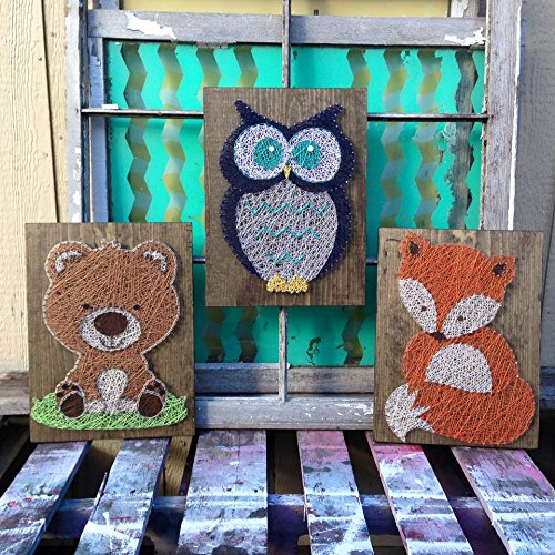 Woodland String Art Animal Set by Nailed It Design