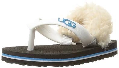 UGG Baby YIA II Neon Flip Flop, White/Azul, 2/3 M