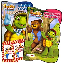 Franklin the Turtle Toddler Board Book Set (Set of 2 Toddler Books) & Bookplate Stickers