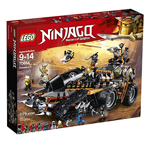 617 h X5ZQL - LEGO NINJAGO Masters of Spinjitzu: Dieselnaut 70654 Ninja Warrior Toy and Playset, Fun Building Kit with Brick Battle Tank Vehicle (1179 Piece)