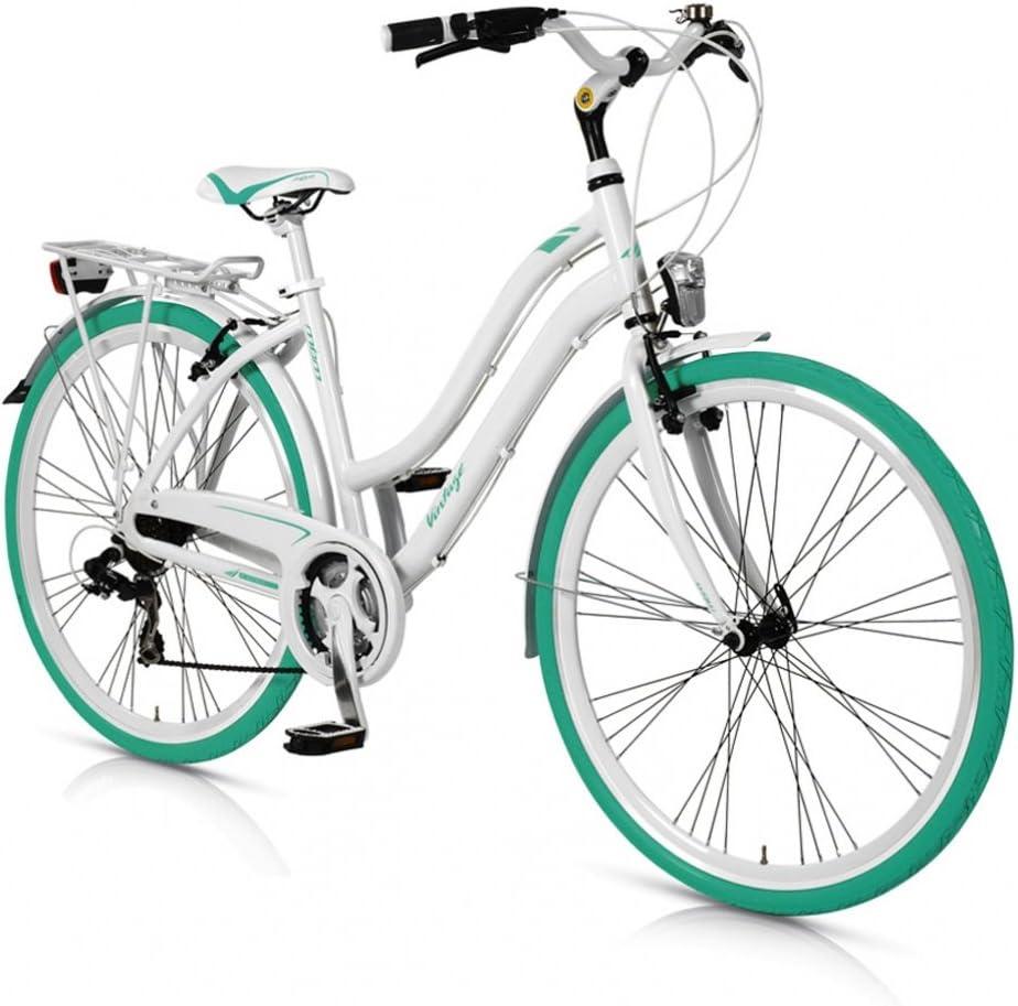 MBM - VINTAGE - Bicicleta ciudad 28 21s - Turquesa - Mujer ...