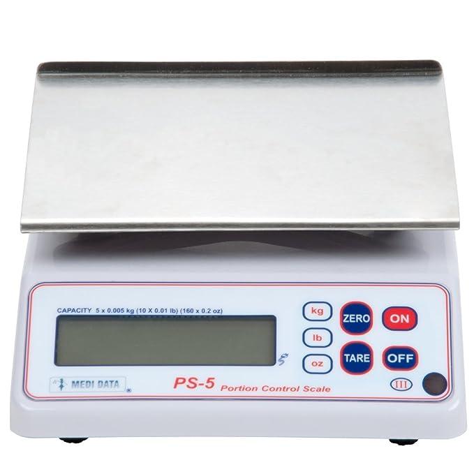 Amazon.com: PS-5 Medi-Data 10lbX0.01lb, Digital Portion Control Scale, NTEP, Units kg/lb/oz, NEW: Digital Kitchen Scales: Kitchen & Dining
