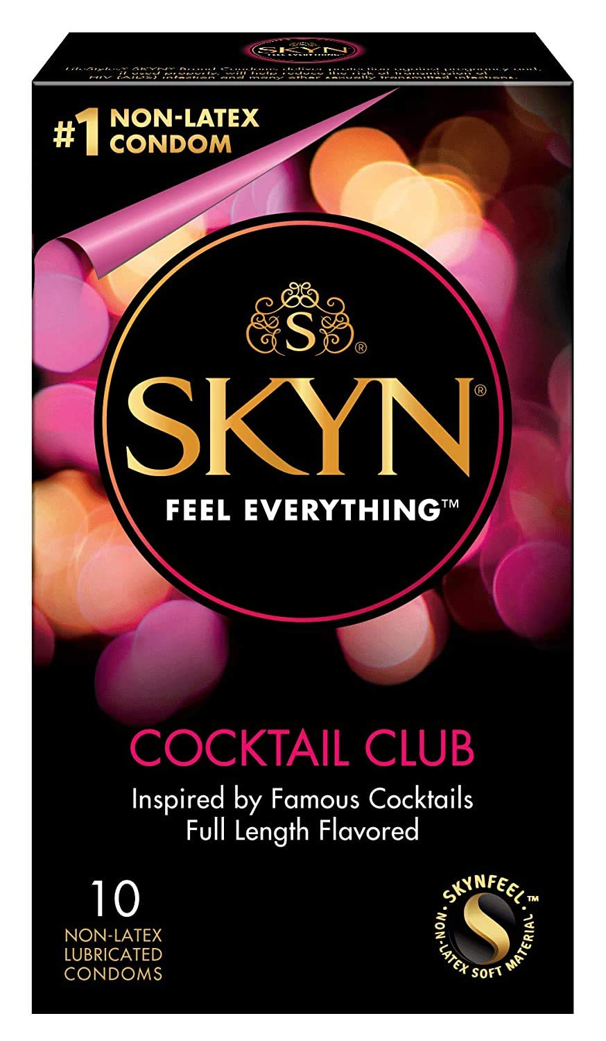 SKYN Cocktail Club Premium Flavored Condoms, 10 Count