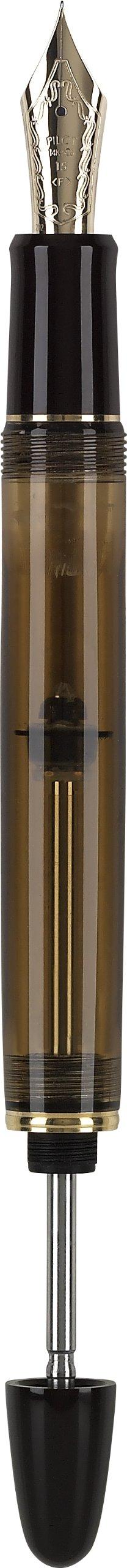Pilot Custom 823 Fountain Pen, Amber Barrel, Blue Ink, Medium Nib (60556) by Pilot (Image #6)