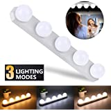 Womdee Hollywood Style LED Vanity Mirror Lights, [2019 Newest] Luxurious Pearl Makeup Lights with 5 Dimmable Light Bulbs, USB Rechargeable Makeup Lights kit for Vanity Table, Bathroom, etc