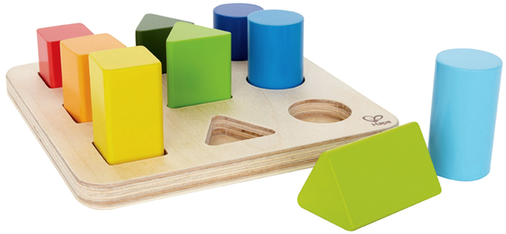 Hape Color and Shape Wooden Block Sorter by Hape (Image #3)