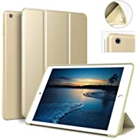 Zoyu Trifold Adjustable Stand Case for iPad 9.7 2018/2017 with Auto Sleep/Wake Function (Gold)