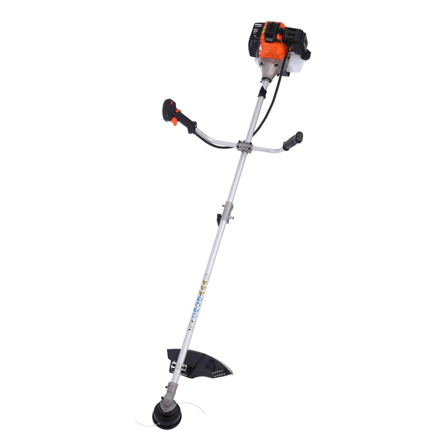 Balanu 2-Cycle Gas Powered Straight Shaft String Trimmer and Brush Cutter Combo, Perfect for Lawn/Garden Weed