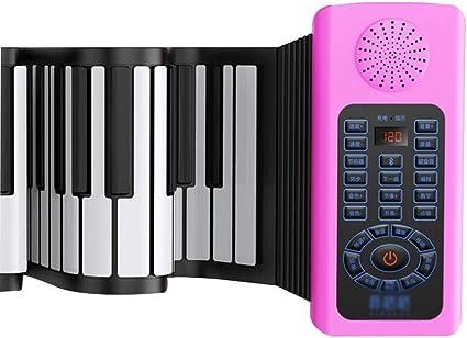 Pianos Teclados Enrollado a Mano enseñar 88 Teclado Plegable ...